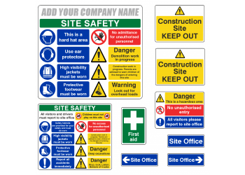 Which safety signs should your construction site display?