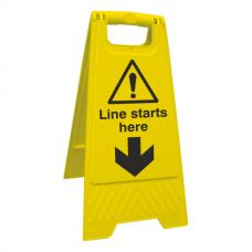 Social Distancing - Line Starts Here Floor Stand