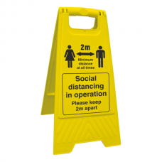Social Distancing - Please Keep 2m Apart Floor Stand