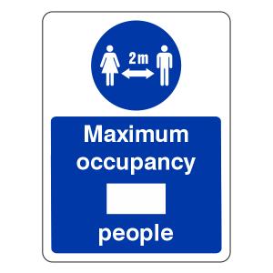 Social Distancing - Maximum Occupancy Sign