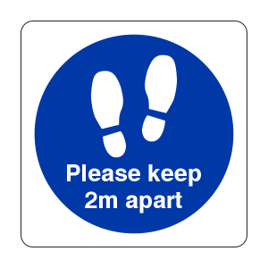 Please Stand Here Sign (Square)