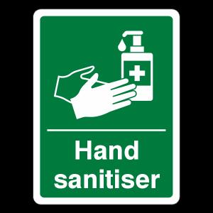 Hand Sanitiser Sign