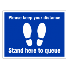 Please Keep Your Distance Temporary Floor Sticker