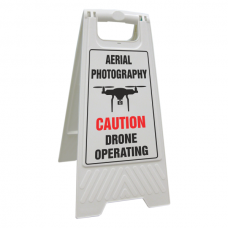 Aerial Photography - Caution Drone Operating Floor Stand