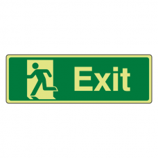 Photoluminescent Final Exit Man Left Sign