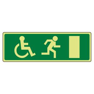 Photoluminescent EC Wheelchair Final Fire Exit man Right Sign