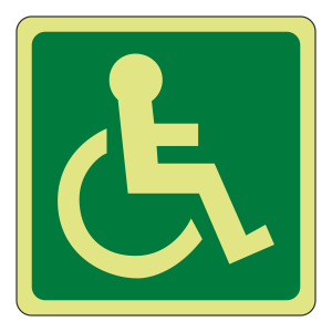Photoluminescent Wheelchair Logo Sign (right)