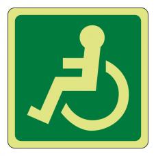 Photoluminescent Wheelchair Logo Sign (left)