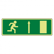 Photoluminescent EC Fire Exit Arrow Up Sign