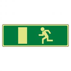 Photoluminescent EC Final Fire Exit Man Left Sign