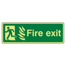 Photoluminescent NHS Final Fire Exit Man Left Sign
