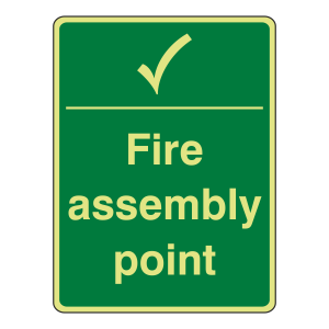 Photoluminescent Fire Assembly Point Sign (Portrait)