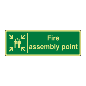 Photoluminescent Fire Assembly Point Sign (Landscape)