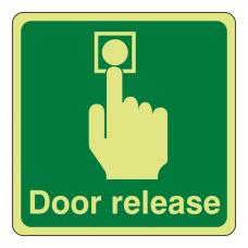 Photoluminescent Door Release Sign