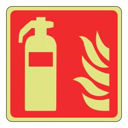 Photoluminescent Fire Extinguisher Sign (Logo)