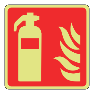 Photoluminescent Fire Extinguisher Sign (Logo)