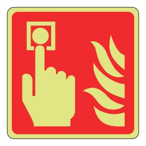 Photoluminescent Call Point Sign (logo)