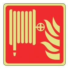 Photoluminescent Fire Hose Reel Sign (Logo)