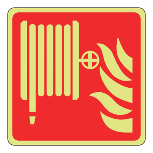 Photoluminescent Fire Hose Reel Sign (Logo)
