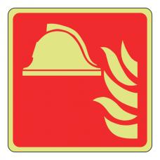 Photoluminescent Fire Point Sign (Logo)
