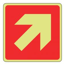 Photoluminescent Diagonal Arrow Sign (Logo)