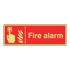 Photoluminescent Fire Alarm Sign (Landscape)