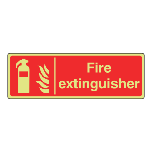 Photoluminescent Fire Extinguisher Sign (Landscape)