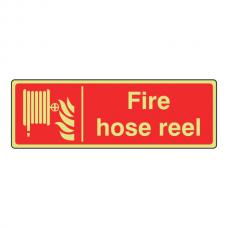 Photoluminescent Fire Hose Reel Sign (Landscape)