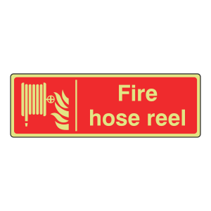 Photoluminescent Fire Hose Reel Sign (Landscape)