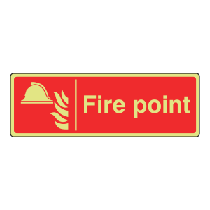 Photoluminescent Fire Point Sign (Landscape)