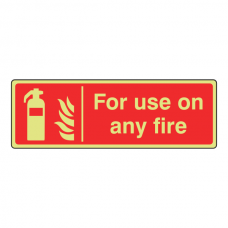 Photoluminescent For Use On Any Fire Sign (Landscape)