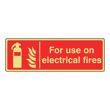 Photoluminescent For Use On Electrical Fires Sign (Landscape)