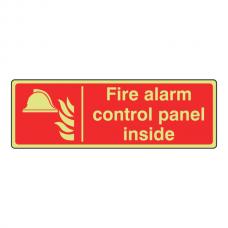 Photoluminescent Fire Alarm Control Panel Inside Sign (Landscape)