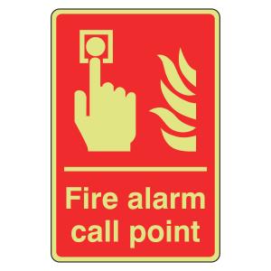 Photoluminescent Fire Alarm Call Point Sign (Portrait)