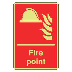 Photoluminescent Fire Point Sign (Portrait)
