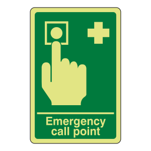Photoluminescent Emergency Call Point Sign