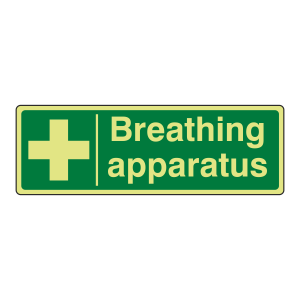 Photoluminescent Breathing Apparatus Sign (Landscape)