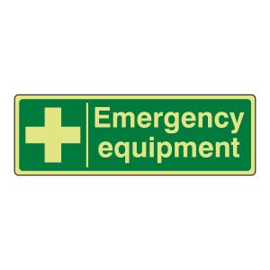 Photoluminescent Emergency Equipment Sign (Landscape)