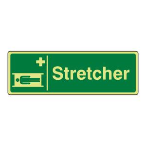 Photoluminescent Stretcher Sign (Landscape)