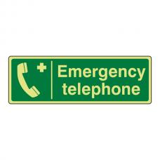 Photoluminescent Emergency Telephone Sign (Landscape)