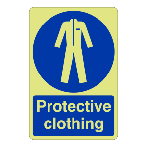 Photoluminescent Protective Clothing Sign