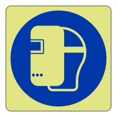 Photoluminescent Welding Mask Sign (logo)