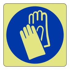 Photoluminescent Wear Gloves Sign (logo)