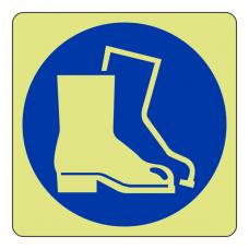 Photoluminescent Protective Footwear Sign (logo)