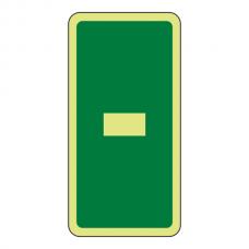 Photoluminescent Green Marker Number Dash Sign