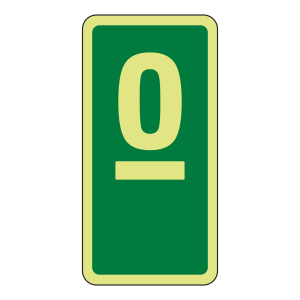 Photoluminescent Green Marker Number Sign