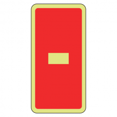 Photoluminescent Marker Number Dash Sign (red)