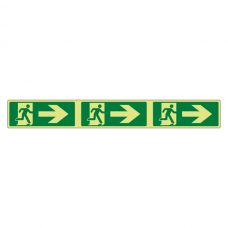 Photoluminescent Fire Exit Arrow Right Marking Strip Sign