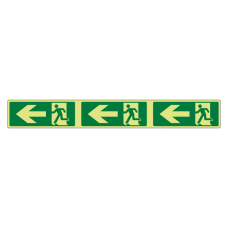 Photoluminescent Fire Exit Arrow Left Marking Strip Sign