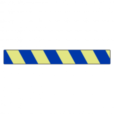 Photoluminescent Blue Chevron Marking Strip Sign